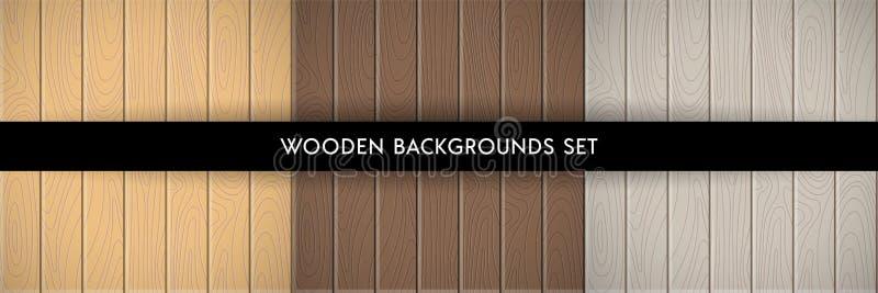 Fije de los fondos texturizados de madera libre illustration