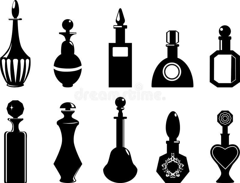 Fije de los frascos o de las botellas del vector stock de ilustración