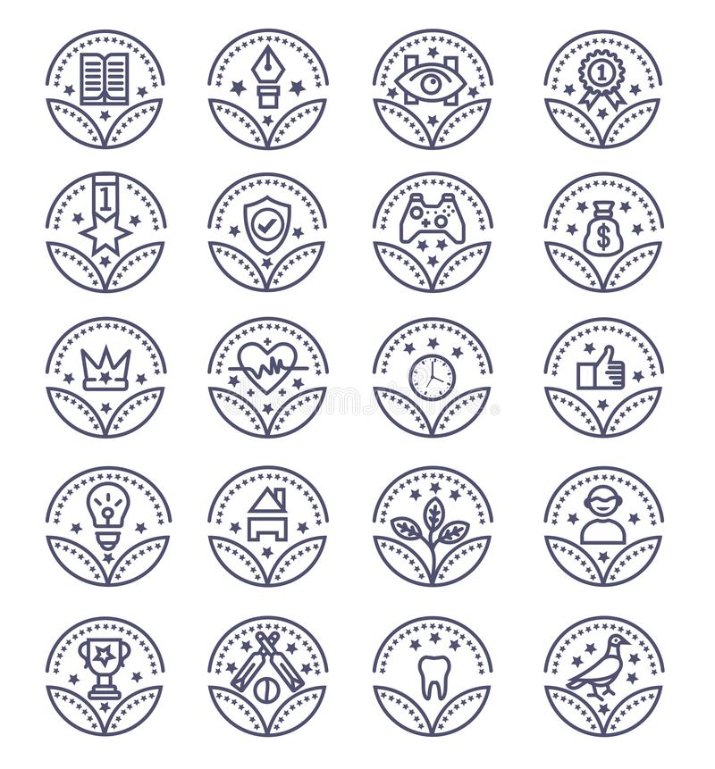 Fije de los iconos del vector de los premios - muestra del vector libre illustration