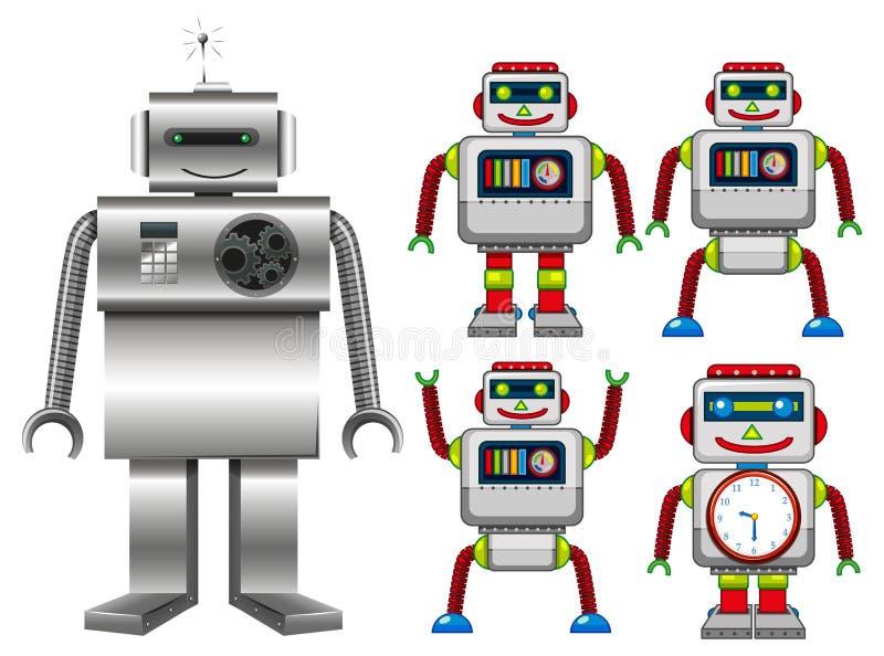 Fije de los juguetes del robot libre illustration