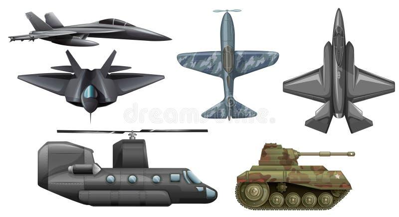 Fije de los vehículos de ejército libre illustration