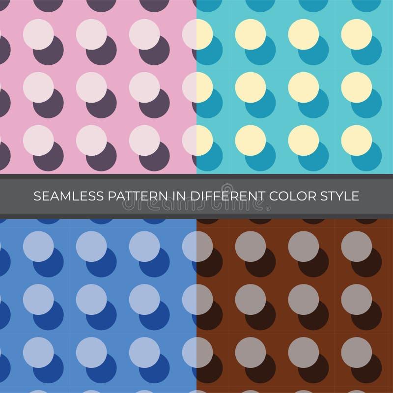Fije de modelo inconsútil del vector del extracto con estilo de cuatro colores El color es el rosa, verde, azul, Brown en estilo  libre illustration