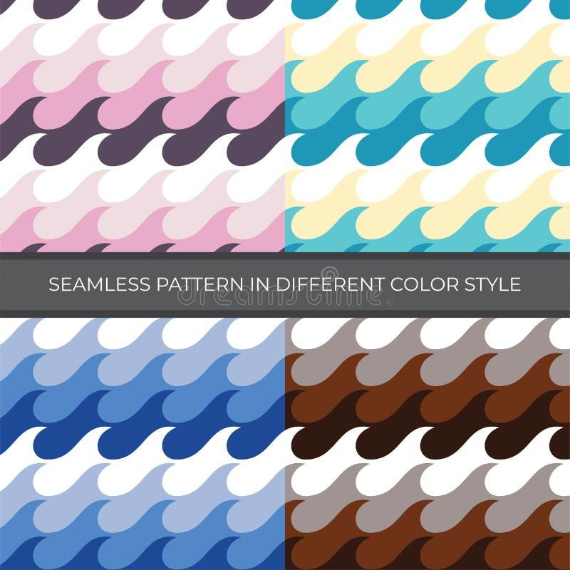 Fije de modelo inconsútil del vector del extracto con estilo de cuatro colores El color es rosa, verde, azul, Brown y utilizado p stock de ilustración