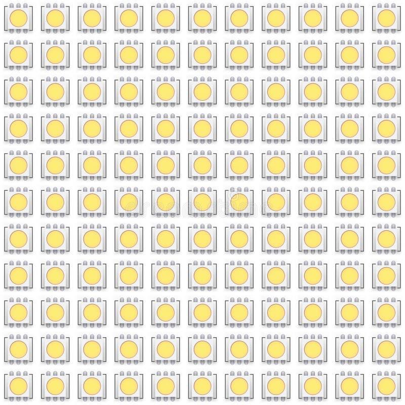 Fije de modelo inconsútil típico del LED ilustración del vector