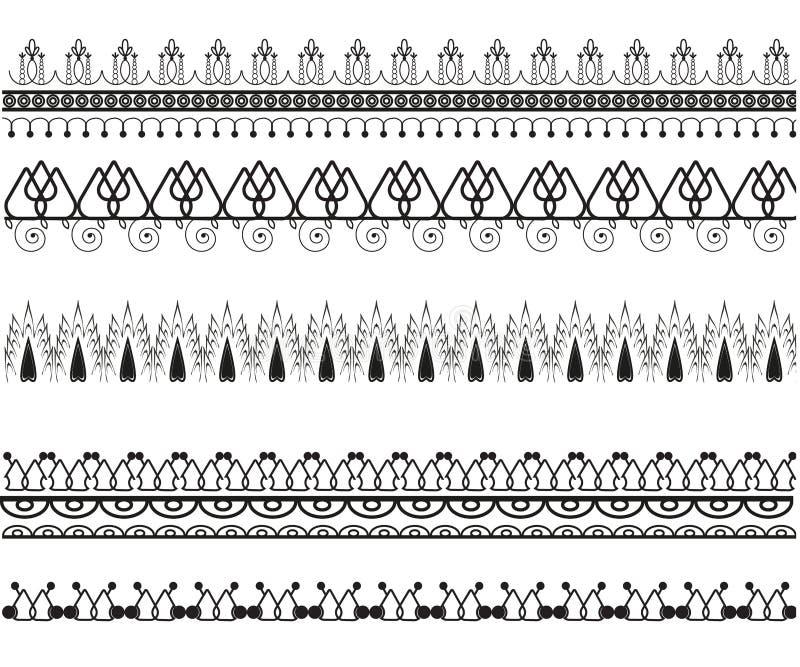 Fije de modelos decorativos del vector ilustración del vector