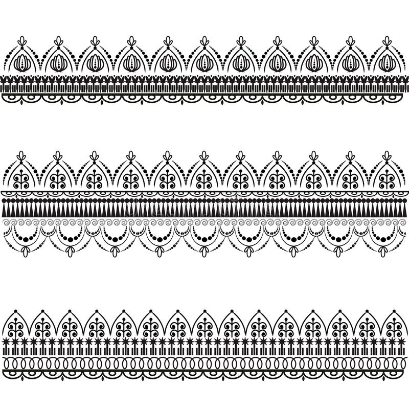 Fije de modelos decorativos del vector Mehndi libre illustration