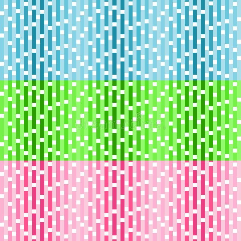 Fije de modelos inconsútiles del vector con las casillas blancas libre illustration