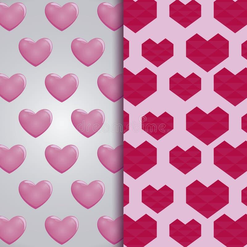 Fije de modelos de las tarjetas del día de San Valentín stock de ilustración