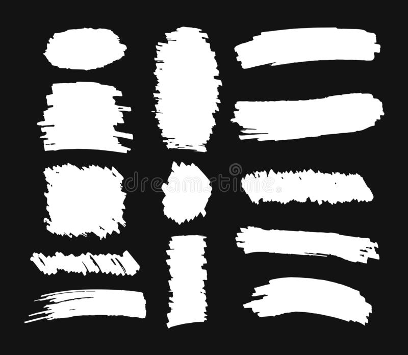 Fije de movimientos exhaustos del cepillo de la mano en fondo gris stock de ilustración
