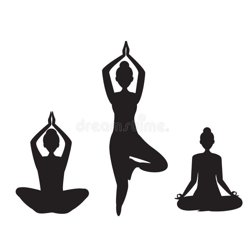 Fije de muchachas de la yoga Muchachas practic libre illustration