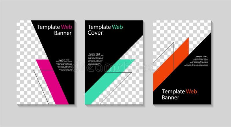 Fije de plantillas del instagram Cubierta del diseño para la bandera social de los medios, apps móviles Disposición de moda del v libre illustration