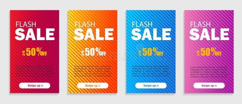 Fije de plantillas geométricas dinámicas El diseño moderno cubre para la página web, las presentaciones o los apps móviles Vector stock de ilustración
