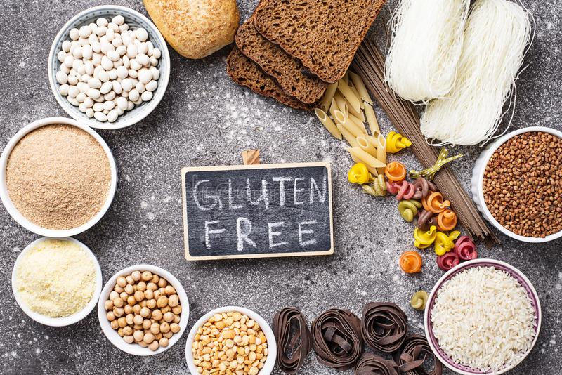 Fije de productos libres del gluten foto de archivo libre de regalías