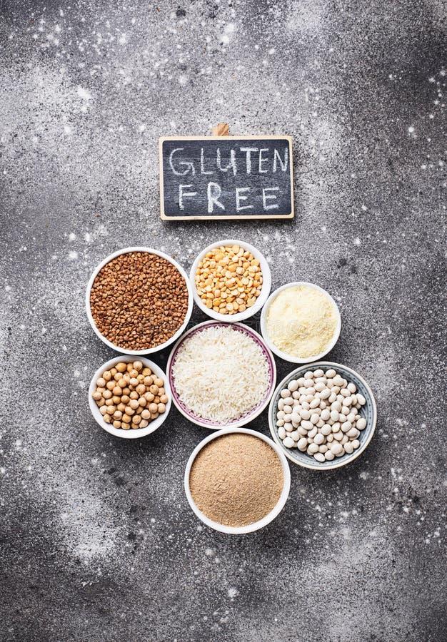 Fije de productos libres del gluten fotografía de archivo