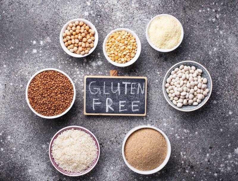 Fije de productos libres del gluten imagen de archivo