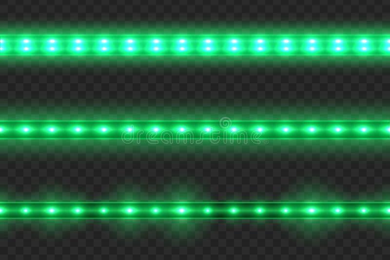Fije de rayas ligeras que brillan intensamente llevadas stock de ilustración