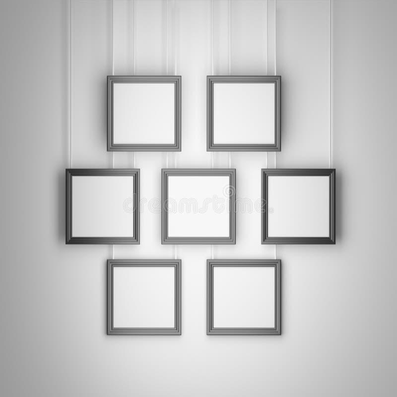 Fije de siete marcos cuadrados stock de ilustración