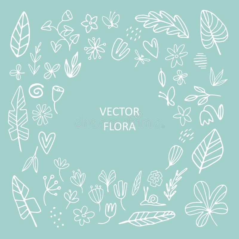 Fije de vector del extracto floral libre illustration