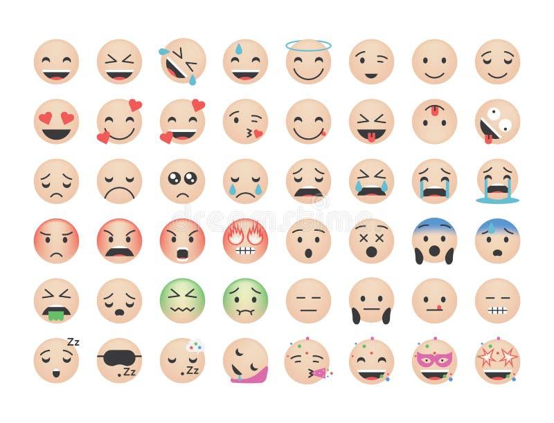 Fije de vector humano del emoticon ilustración del vector