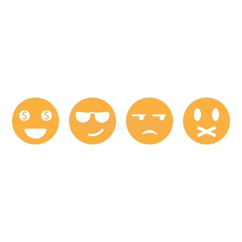 Fije del ejemplo del icono del vector del emoticon libre illustration