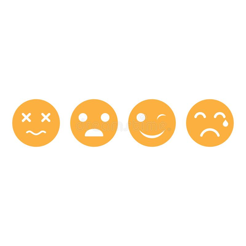 Fije del ejemplo del icono del vector del emoticon stock de ilustración