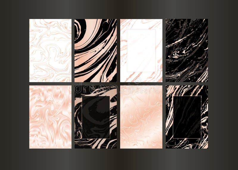 Fije del folleto negro del vector y del oro elegante, casandose la tarjeta de la invitación, fondo, cubierta Plantilla del diseño ilustración del vector
