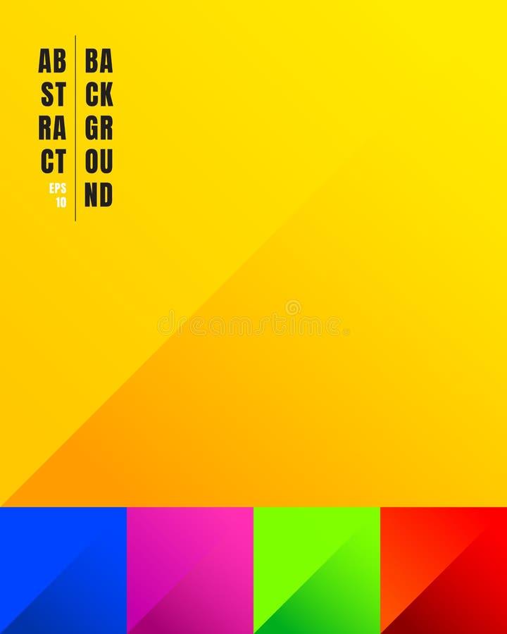 Fije del papel colorido cortan el fondo del color amarillo, azul, rosado, verde, rojo y la sombra con el lugar para su texto Uste ilustración del vector