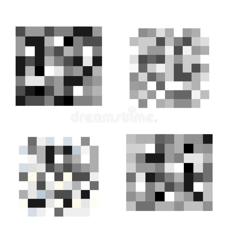 Fije del pixel censuró muestras Barra negra del censor ilustración del vector