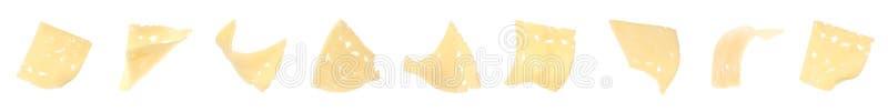 Fije del queso delicioso en el fondo blanco fotos de archivo libres de regalías