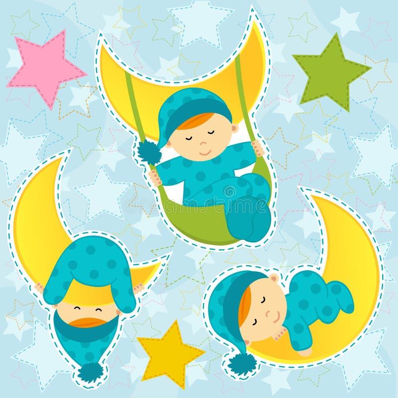 Fije dormir del bebé del icono libre illustration