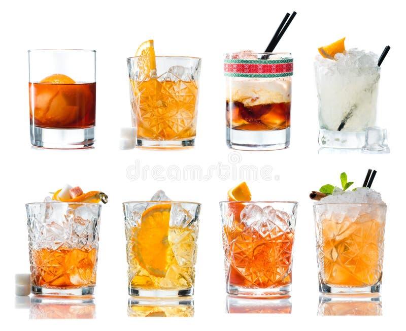 Fije el cóctel alcohólico con el whisky foto de archivo libre de regalías