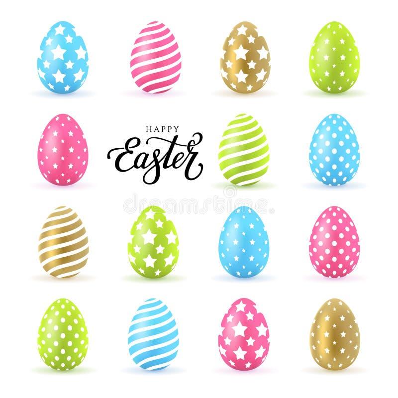 Fije el color de los huevos stock de ilustración