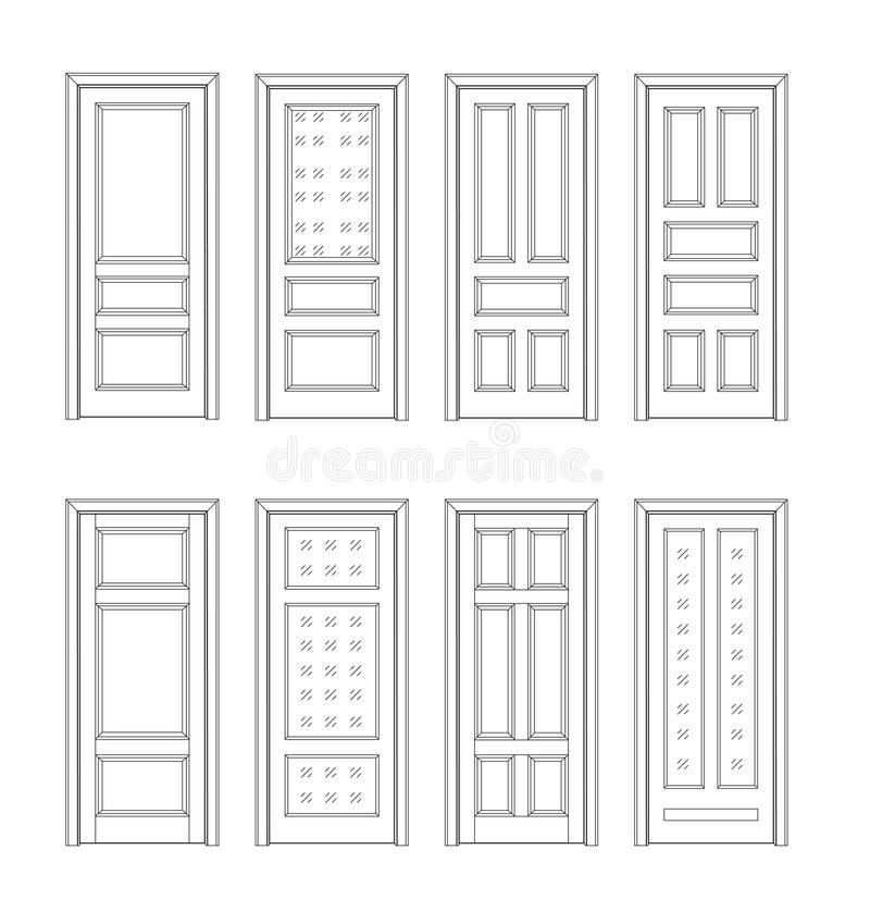 Fije el dibujo t cnico de la puerta stock de ilustraci n - Dibujos de puertas ...