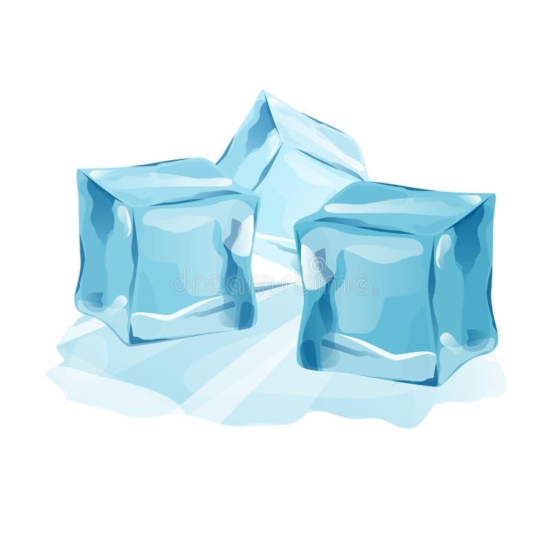 Fije el eleme aislado de las nieves acumulada por la ventisca y de los carámbanos de los casquetes glaciares libre illustration