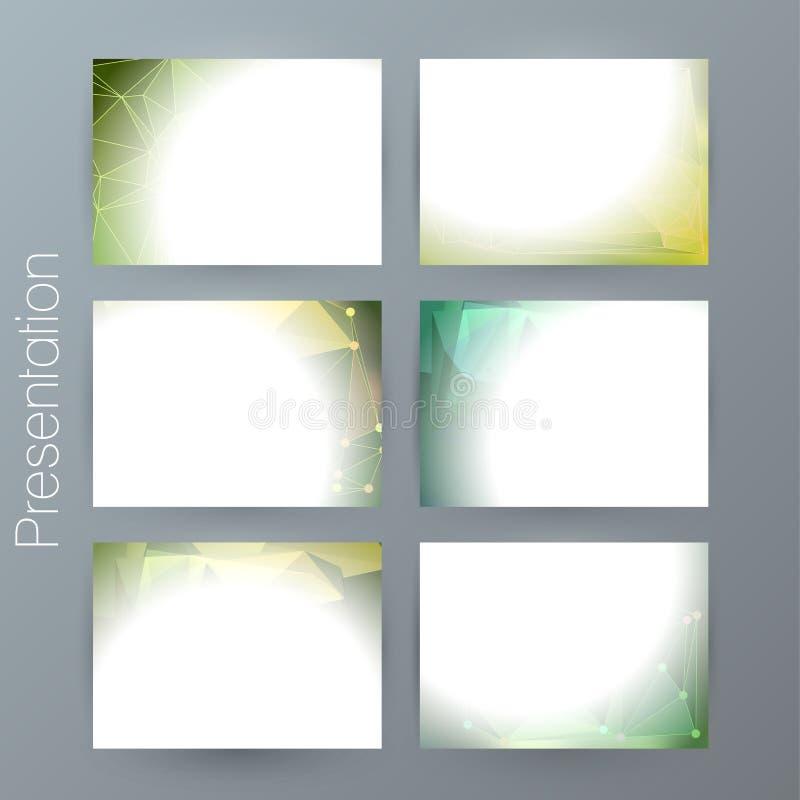 Fije el fondo design02 borroso moderno de la presentación stock de ilustración