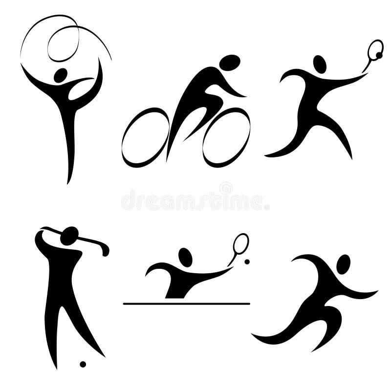 Fije el icono de los deportes libre illustration