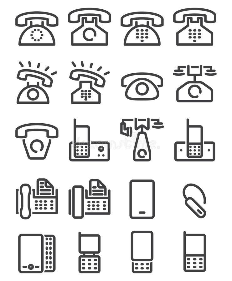 Fije el icono del teléfono libre illustration