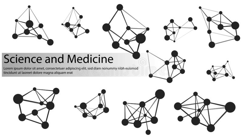Fije el icono del vector de la molécula Estructura de la conexi?n EPS 10 libre illustration
