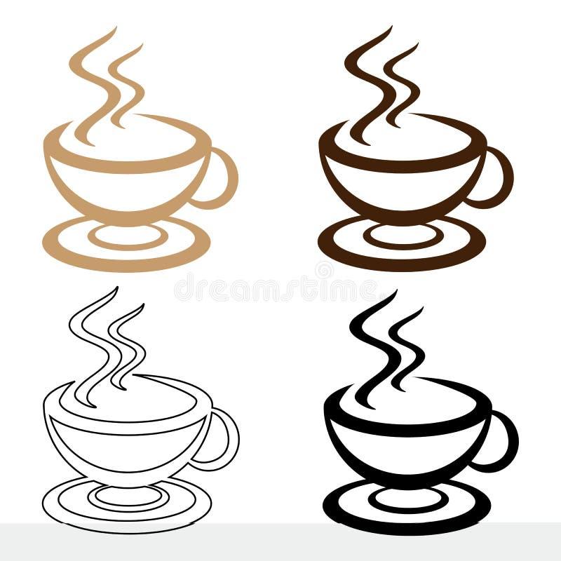 Fije el icono a la taza de café para un diverso diseño ilustración del vector