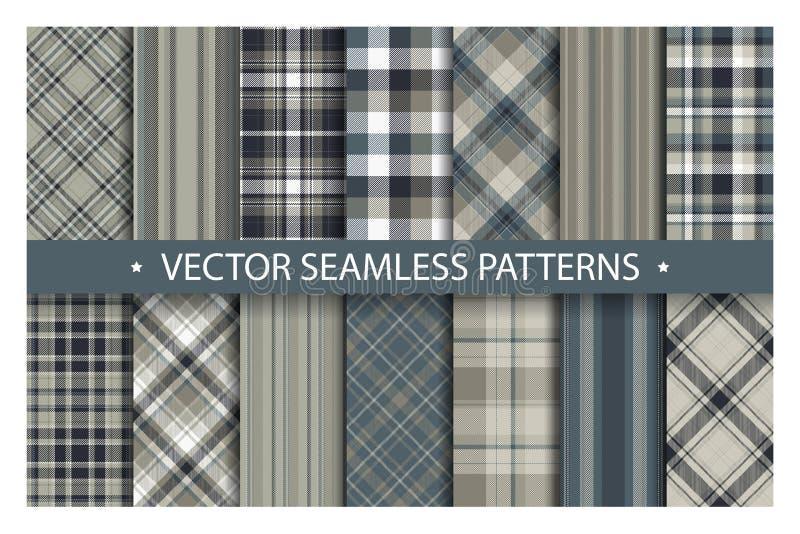 Fije el modelo de la tela escocesa inconsútil Textura de la tela de los modelos del tartán Fondo geométrico a cuadros del vector libre illustration