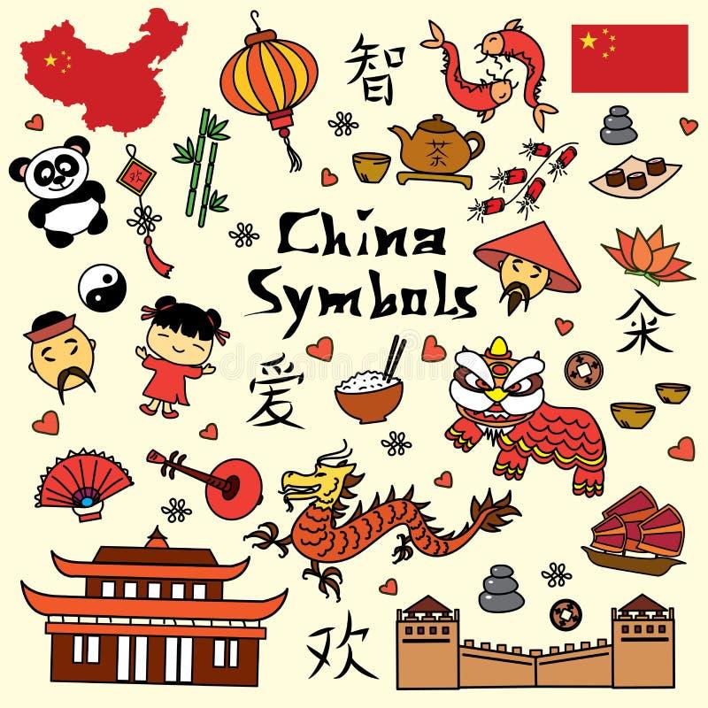 Fije el símbolo de China libre illustration