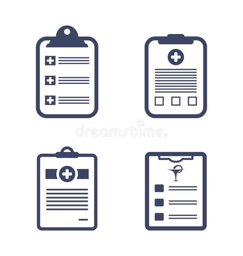 Fije El Tablero De Los Informes Médicos Ilustración del Vector ...