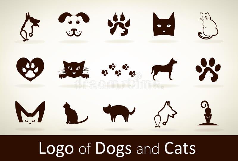 Fije el vector del logotipo del perro y del gato ilustración del vector