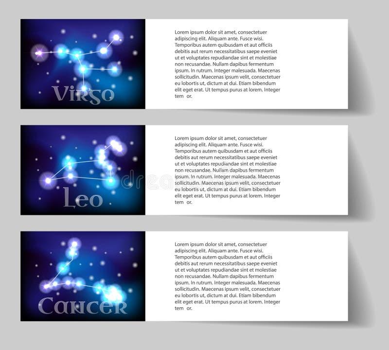 Fije el zodiaco ilustración del vector