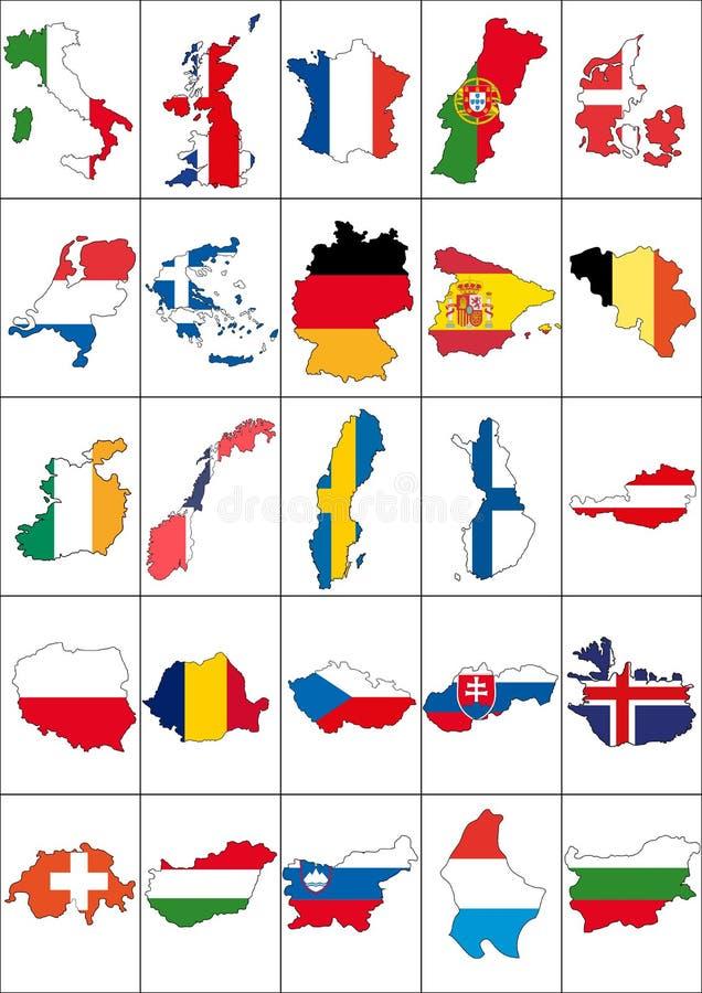 Fije Europa stock de ilustración