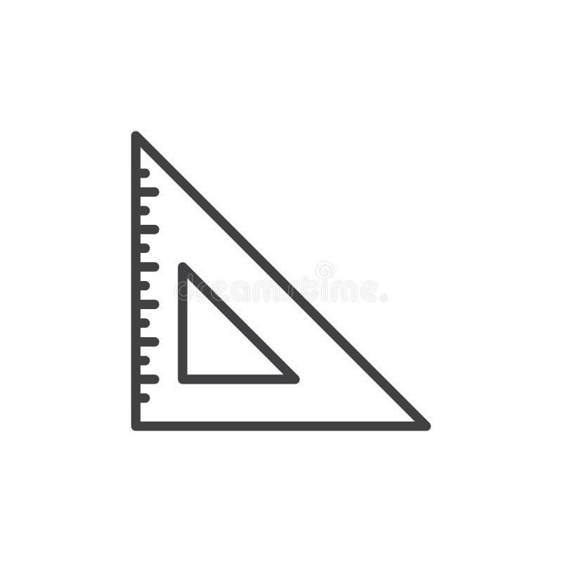 Fije la línea icono, muestra del cuadrado del vector del esquema stock de ilustración