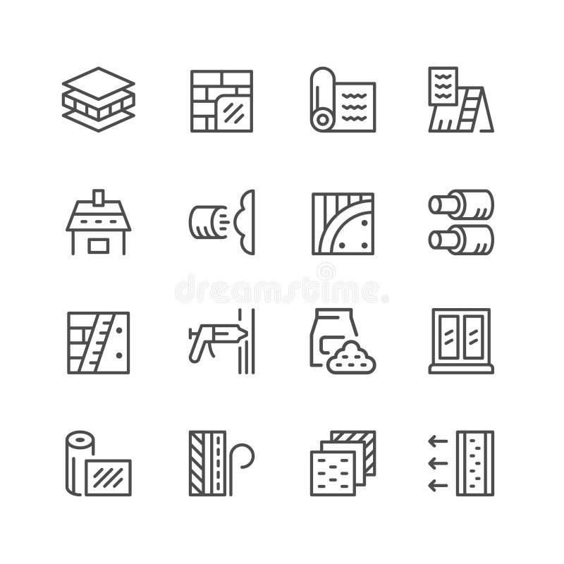 Fije la línea iconos de aislamiento libre illustration
