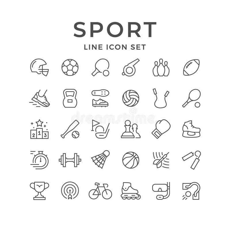 Fije la línea iconos de deporte libre illustration