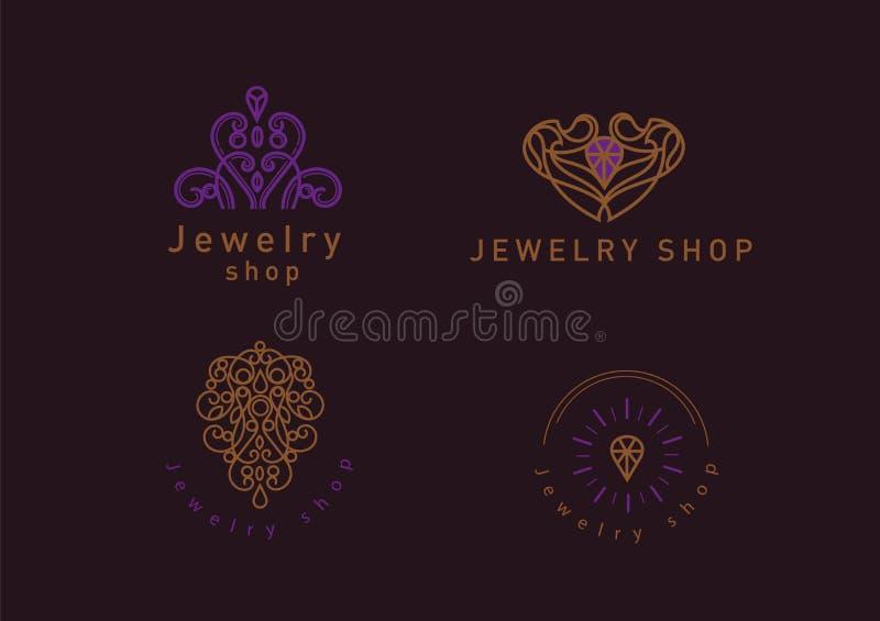 Fije La Línea Logotipo, Un Diamante En Un Marco, Para La Tienda De ...