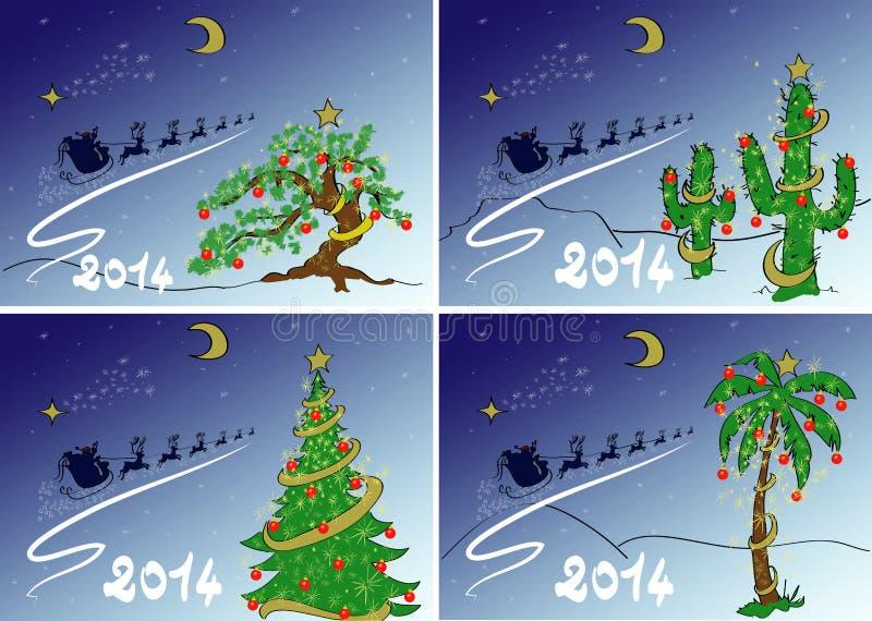 Fije la postal de la Navidad stock de ilustración